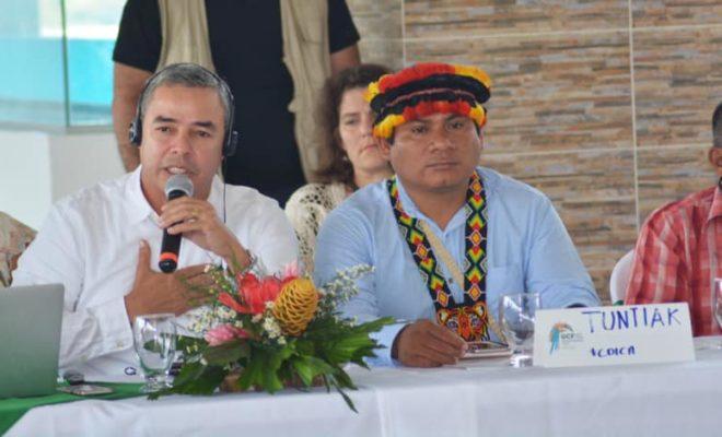 gobernador de Caquetá Álvaro Pacheco en la cumbre mundial de gobernadores contra el cambio climático