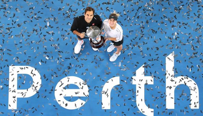 Federer venció a Serena en la Copa Hopman